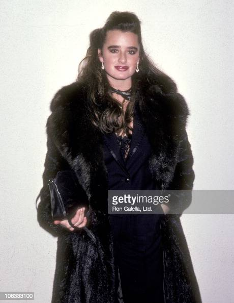 Actress Kyle Richards on September 28 1985 dines at Spago in West Hollywood California