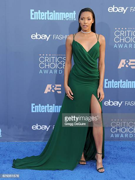 Actress Kylie Bunbury arrives at The 22nd Annual Critics' Choice Awards at Barker Hangar on December 11 2016 in Santa Monica California