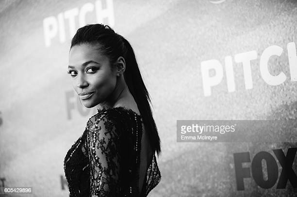 Actress Kylie Bunbury arrives at the premiere of Fox's 'Pitch' at West LA Little League Field on September 13 2016 in Los Angeles California