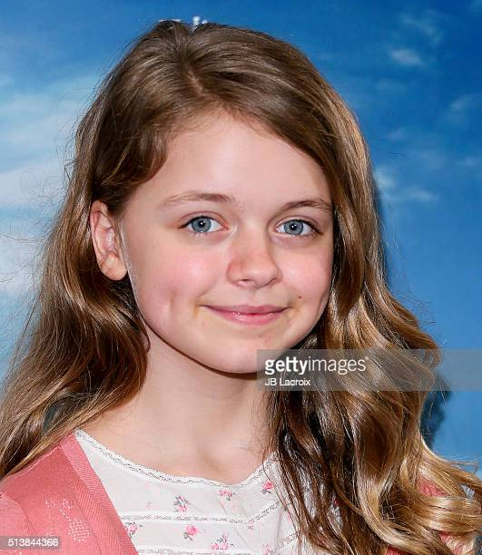 Actress Kylie Rogers attends Sony Pictures releasing's 'Miracles From Heaven' photo call on March 4 2016 in West Hollywood California