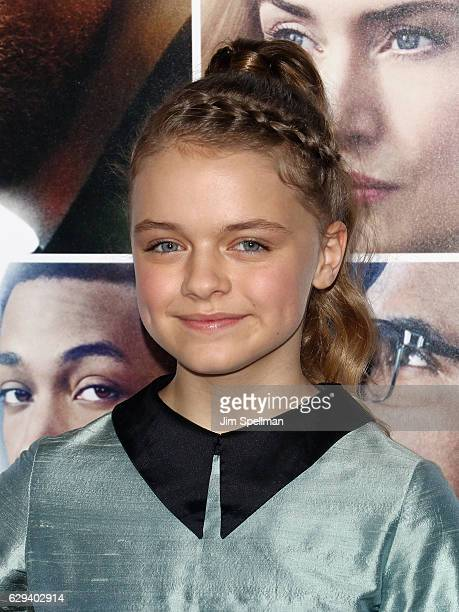 Actress Kylie Rogers attends the 'Collateral Beauty' world premiere at Frederick P Rose Hall Jazz at Lincoln Center on December 12 2016 in New York...