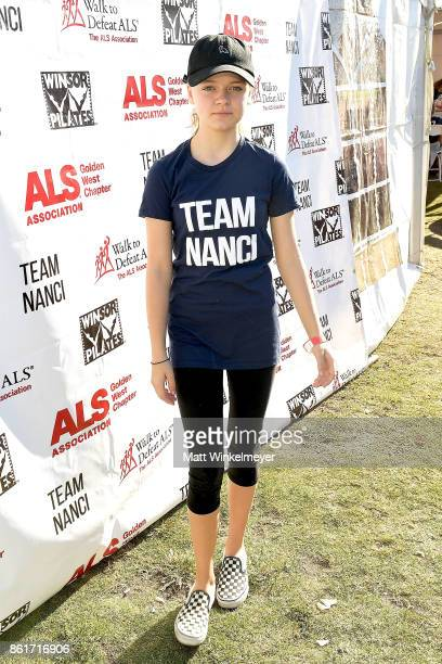 Actress Kylie Rogers attends the Nanci Ryder's 'Team Nanci' participates in the 15th Annual LA County Walk to Defeat ALS at Exposition Park on...