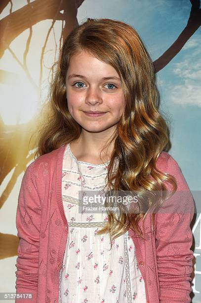 Actress Kylie Rogers Sony Pictures Releasing's 'Miracles From Heaven' Photo Call at The London Hotel on March 4 2016 in West Hollywood California