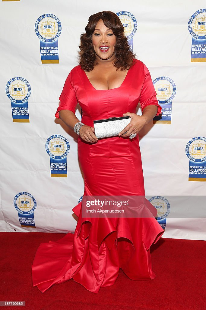 Actress <a gi-track='captionPersonalityLinkClicked' href=/galleries/search?phrase=Kym+Whitley&family=editorial&specificpeople=242929 ng-click='$event.stopPropagation()'>Kym Whitley</a> attends the 23rd Annual NAACP Theatre Awards at Saban Theatre on November 11, 2013 in Beverly Hills, California.