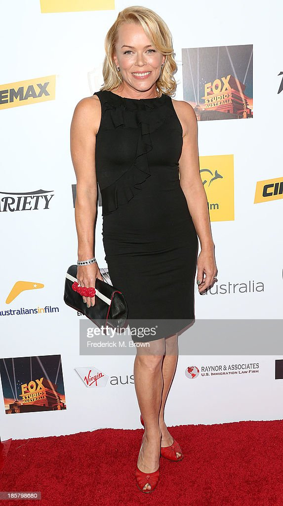 Actress Kym Wilson attends the Australians in Film Benefit Dinner at the at Intercontinental Hotel on October 24, 2013 in Beverly Hills, California.