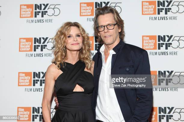 Actress Kyra Sedgwick and actor Kevin Bacon attend 'Joan Didion The Center Will Not Hold' during the 55th New York Film Festival at Alice Tully Hall...