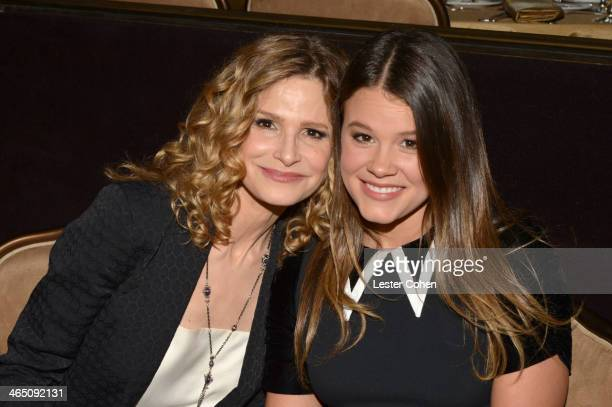 Actress Kyra Sedgwick and daughter Sosie Bacon attend the 56th annual GRAMMY Awards PreGRAMMY Gala and Salute to Industry Icons honoring Lucian...