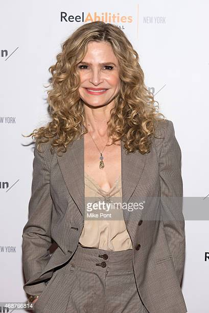 Actress Kyra Sedgwick attends the 'The Road Within' New York premiere at The JCC on April 6 2015 in New York City
