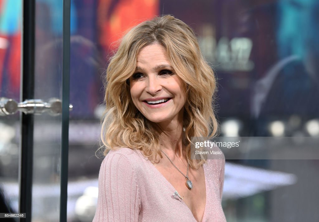 Actress Kyra Sedgwick visits 'Extra' at H&M Times Square on September 27, 2017 in New York City.