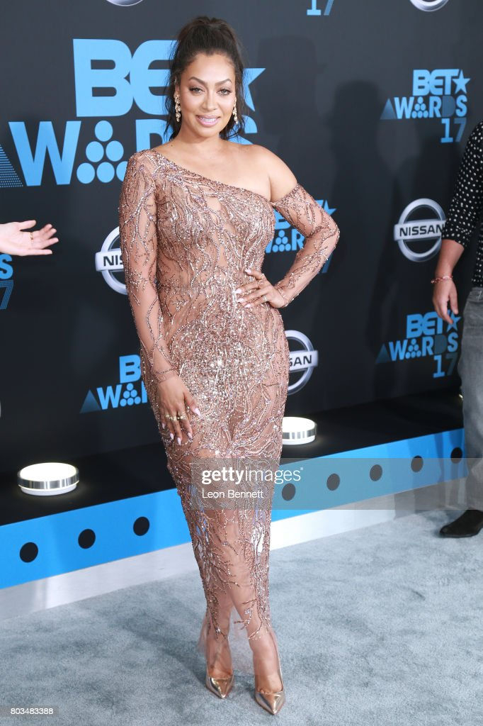 Actress La La Anthony arrives at the 2017 BET Awards at Microsoft Theater on June 25, 2017 in Los Angeles, California.