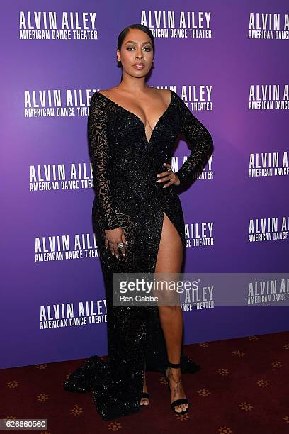 TV personality La La Anthony attends an evening of Ailey and Jazz opening night gala at New York City Center on November 30 2016 in New York City
