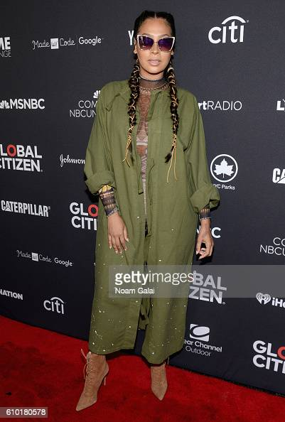 TV personality La La Anthony attends the 2016 Global Citizen Festival In Central Park To End Extreme Poverty By 2030 at Central Park on September 24...