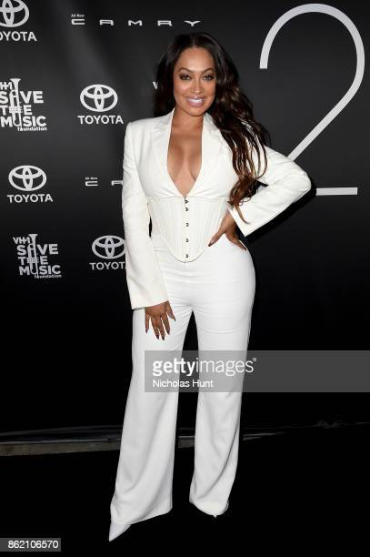 TV personality La La Anthony attends VH1 Save The Music 20th Anniversary Gala at SIR Stage37 on October 16 2017 in New York City