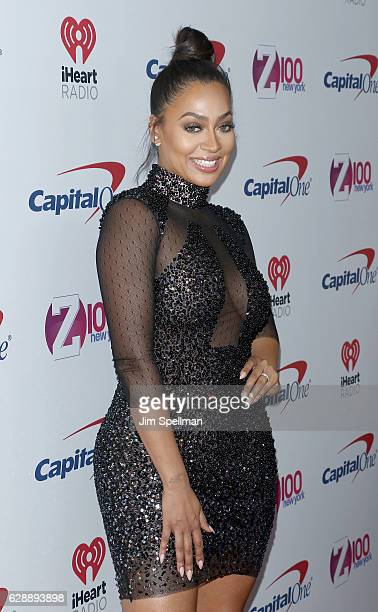 TV personality La La Anthony attends Z100's Jingle Ball 2016 at Madison Square Garden on December 9 2016 in New York City