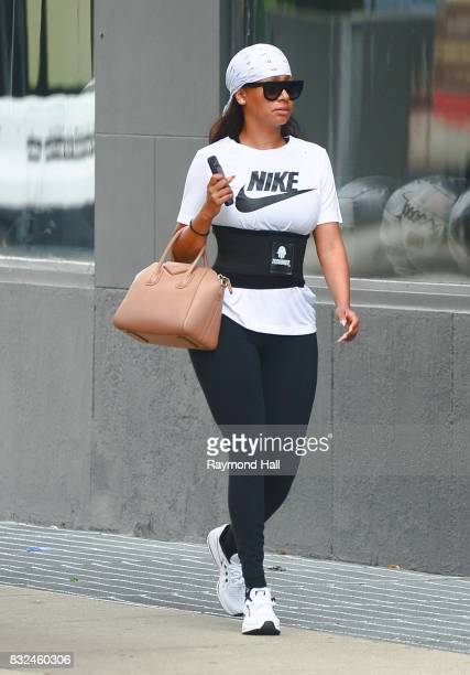 Actress La La' Anthony is seen walking in the GYM in Soho on August 16 2017 in New York City