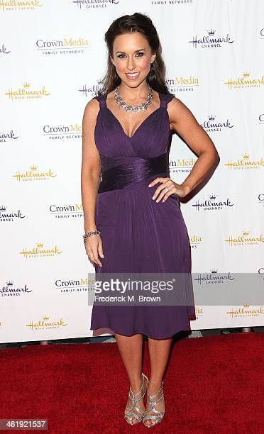 Actress Lacey Chabert attends Hallmark Channel Hallmark Movie Channel's 2014 Winter TCA Party at The Huntington Library and Gardens on January 11...