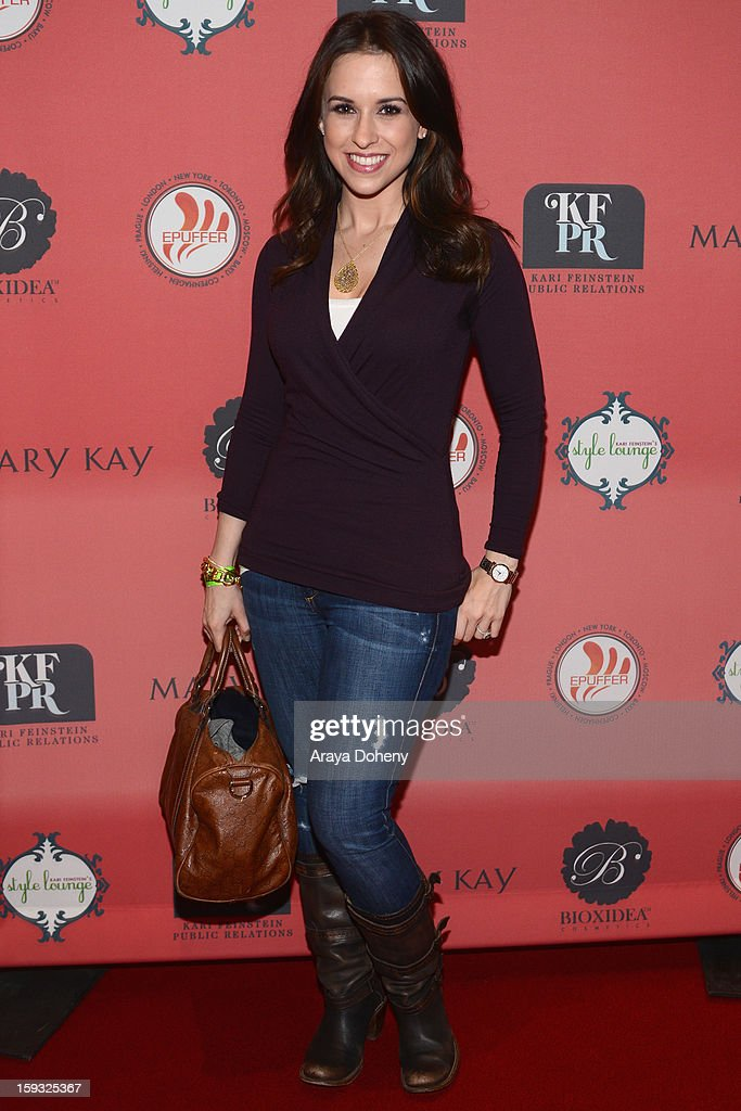 Actress Lacey Chabert attends Kari Feinstein's Pre-Golden Globes Style Lounge at the W Hollywood on January 11, 2013 in Hollywood, California.