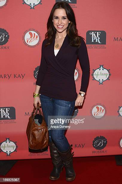 Actress Lacey Chabert attends Kari Feinstein's PreGolden Globes Style Lounge at the W Hollywood on January 11 2013 in Hollywood California