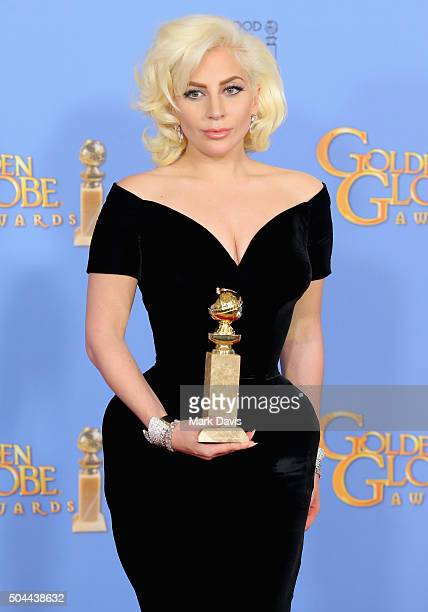 Actress Lady Gaga winner of Best Performance by an Actress in a Limited Series or a Motion Picture Made for Television for 'American Horror Story'...