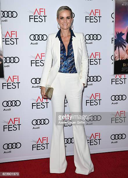 Actress Laeticia Hallyday arrives at AFI FEST 2016 Presented by Audi Opening Night Premiere of 20th Century Fox's 'Rules Don't Apply' at TCL Chinese...
