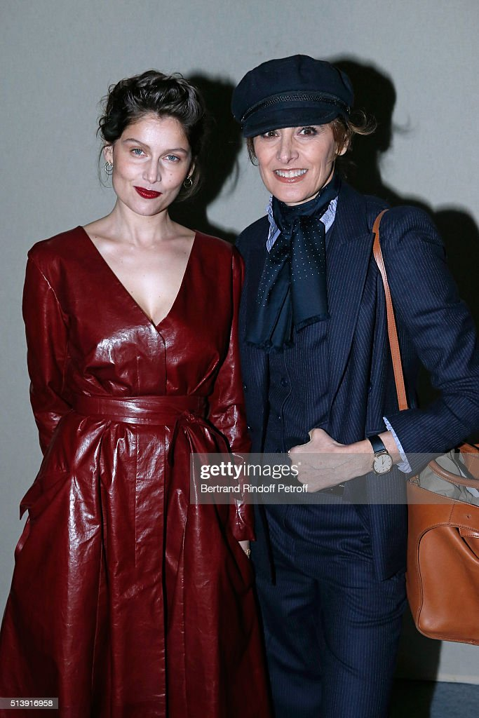 Actress Laetitia Casta and Ines de la Fressange attend the Nina Ricci show as part of the Paris Fashion Week Womenswear Fall/Winter 2016/2017 on...