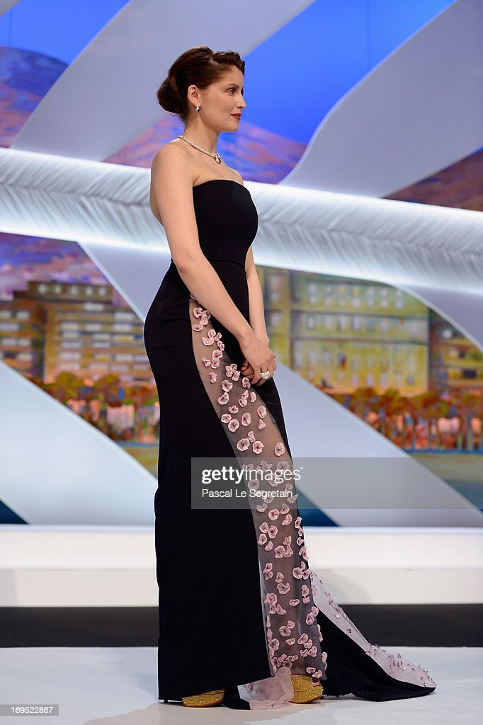 Actress Laetitia Casta appears on stage at the Inside Closing Ceremony during the 66th Annual Cannes Film Festival at the Palais des Festivals on May 26, 2013 in Cannes, France.