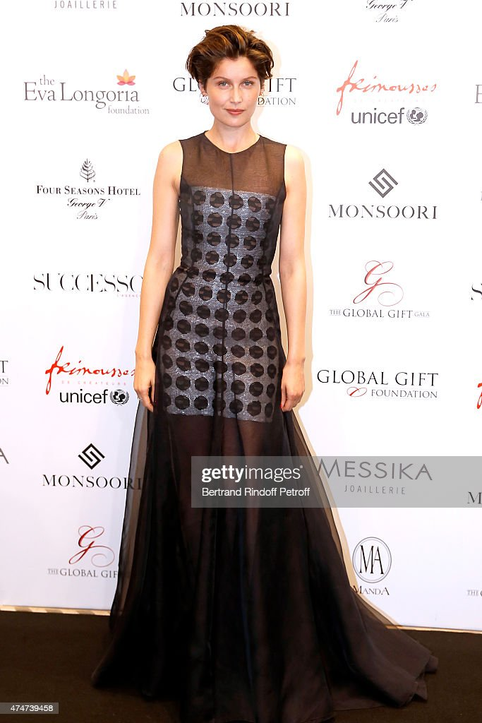 Actress <a gi-track='captionPersonalityLinkClicked' href=/galleries/search?phrase=Laetitia+Casta&family=editorial&specificpeople=203075 ng-click='$event.stopPropagation()'>Laetitia Casta</a> attends the Global Gift Gala : Photocall. Held at Four Seasons Hotel George V on May 25, 2015 in Paris, France.