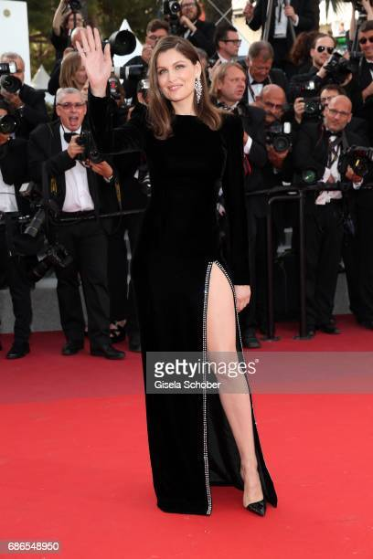 Actress Laetitia Casta attends 'The Meyerowitz Stories' premiere during the 70th annual Cannes Film Festival at Palais des Festivals on May 21 2017...