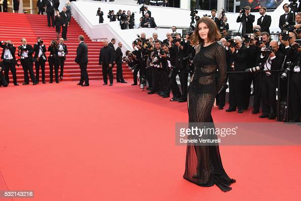 Actress Laetitia Casta attends 'The Unknown Girl ' Premiere during the 69th annual Cannes Film Festival at the Palais des Festivals on May 18 2016 in...