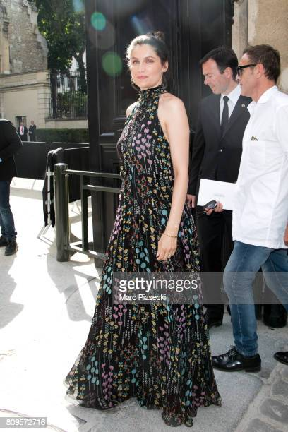 Actress Laetitia Casta attends the Valentino Haute Couture Fall/Winter 20172018 show as part of Paris Fashion Week on July 5 2017 in Paris France