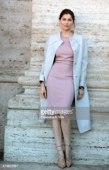 Actress Laetitia Casta attends 'Una Donna per Amica' photocall at Moderno Cinama on February 24 2014 in Rome Italy
