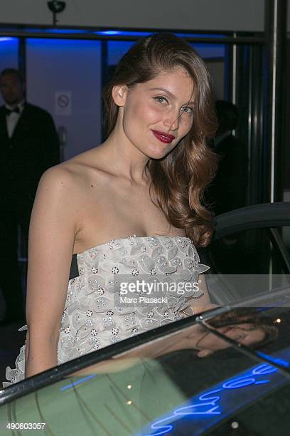 Actress Laetitia Casta is seen leaving the 'Palais des Festivals' on day 1 of the 67th Annual Cannes Film Festival on May 14 2014 in Cannes France