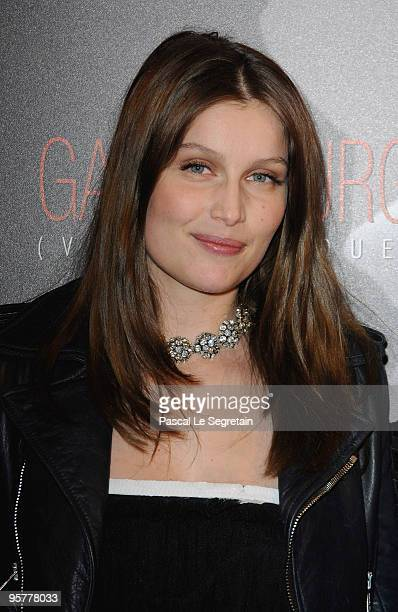 Actress Laetitia Casta poses as she attends the 'Gainsbourg ' film Premiere at Cinema Gaumont Opera on January 14 2010 in Paris France