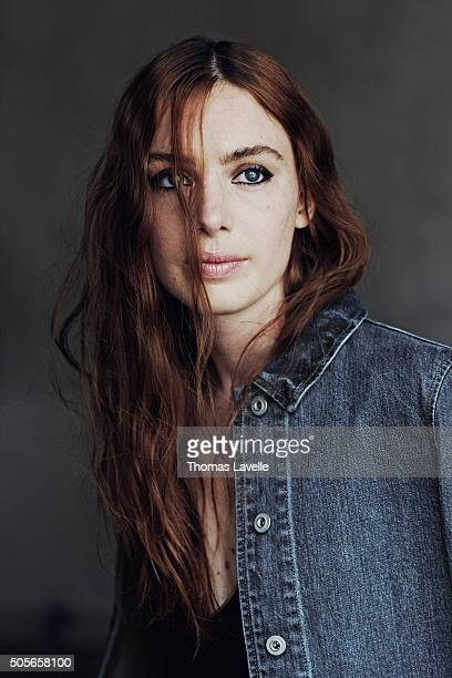 Actress Laetitia Dosch is photographed for Technikart on April 16 2015 in Paris France