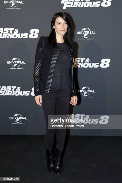 Actress Laetitia Fourcade attends 'Fast Fourious 8' Paris Premiere at Le Grand Rex on April 5 2017 in Paris France