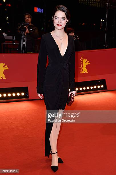 Actress Laetitia IsambertDenis attends the 'Boris without Beatrice' premiere during the 66th Berlinale International Film Festival Berlin at...