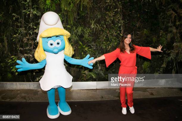 Actress Laetitia Milot attends the 'Smurfs The Lost Village' photocall at Hotel Pershing Hall on March 27 2017 in Paris France