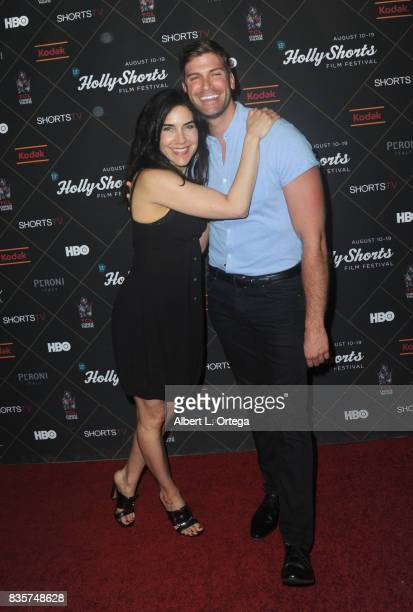 Actress Lahna Turner and actor Roarke Walker arrive for the HollyShorts Film Festival Closing Night Film 'This Is Meg' held at TCL Chinese 6 Theatres...