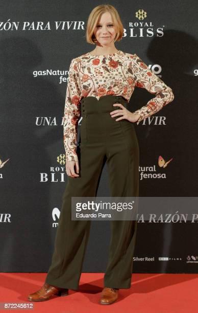 Actress Laia Manzanares attends the 'Una razon para vivir' premiere on November 9 2017 in Madrid Spain