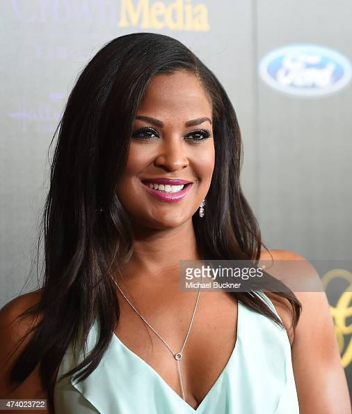 Actress Laila Ali arrives at the 40th Anniversary Gracies Awards at The Beverly Hilton Hotel on May 19 2015 in Beverly Hills California