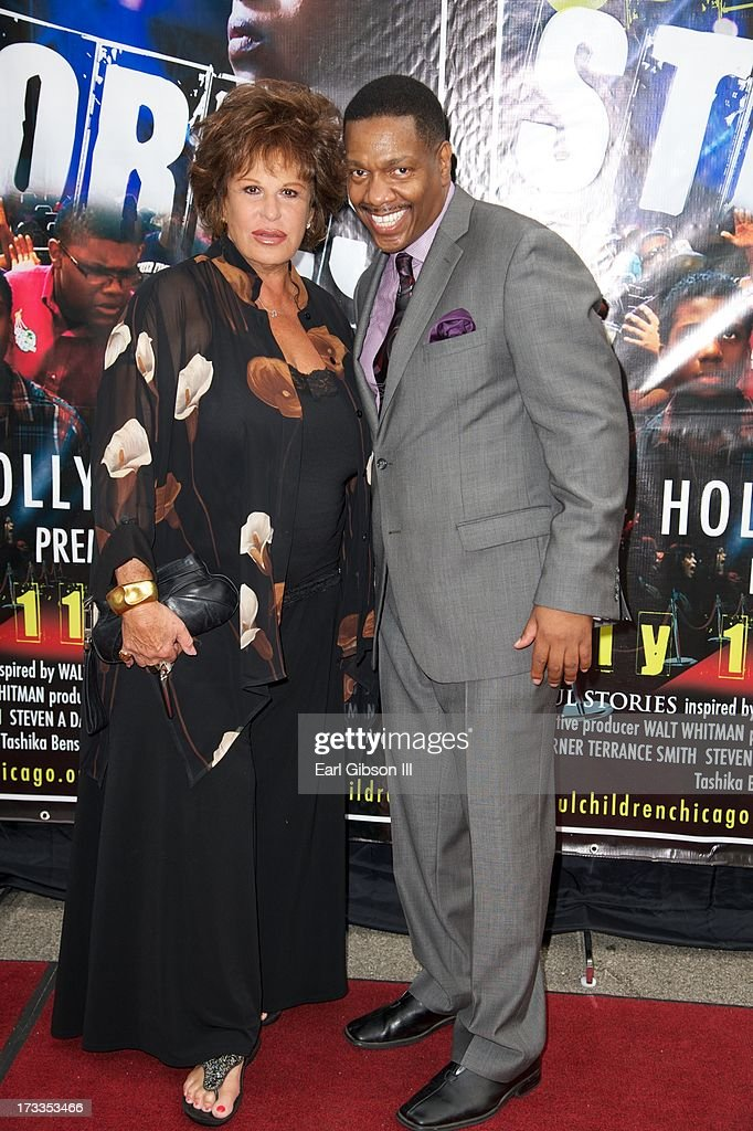 Actress <a gi-track='captionPersonalityLinkClicked' href=/galleries/search?phrase=Lainie+Kazan&family=editorial&specificpeople=215362 ng-click='$event.stopPropagation()'>Lainie Kazan</a> and Director Walt Whitman attend the premiere of 'Soul Children Of Chicago' at Historic American Legion - Post 43 on July 11, 2013 in Los Angeles, California.