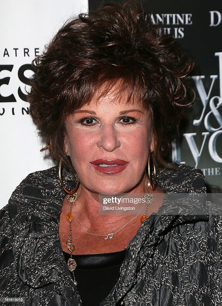 Actress <a gi-track='captionPersonalityLinkClicked' href=/galleries/search?phrase=Lainie+Kazan&family=editorial&specificpeople=215362 ng-click='$event.stopPropagation()'>Lainie Kazan</a> attends the opening night of 'Jekyll & Hyde' at the Pantages Theatre on February 12, 2013 in Hollywood, California.