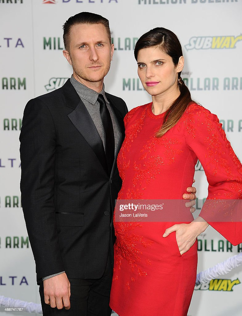 Actress Lake Bell (R) and husband Scott Campbell attend the premiere of 'Million Dollar Arm' at the El Capitan Theatre on May 6, 2014 in Hollywood, California.