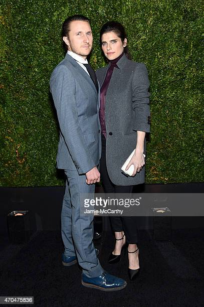 Actress Lake Bell and Scott Campbell attend the Chanel Dinner during the 2015 Tribeca Film Festival at Balthazar on April 20 2015 in New York City