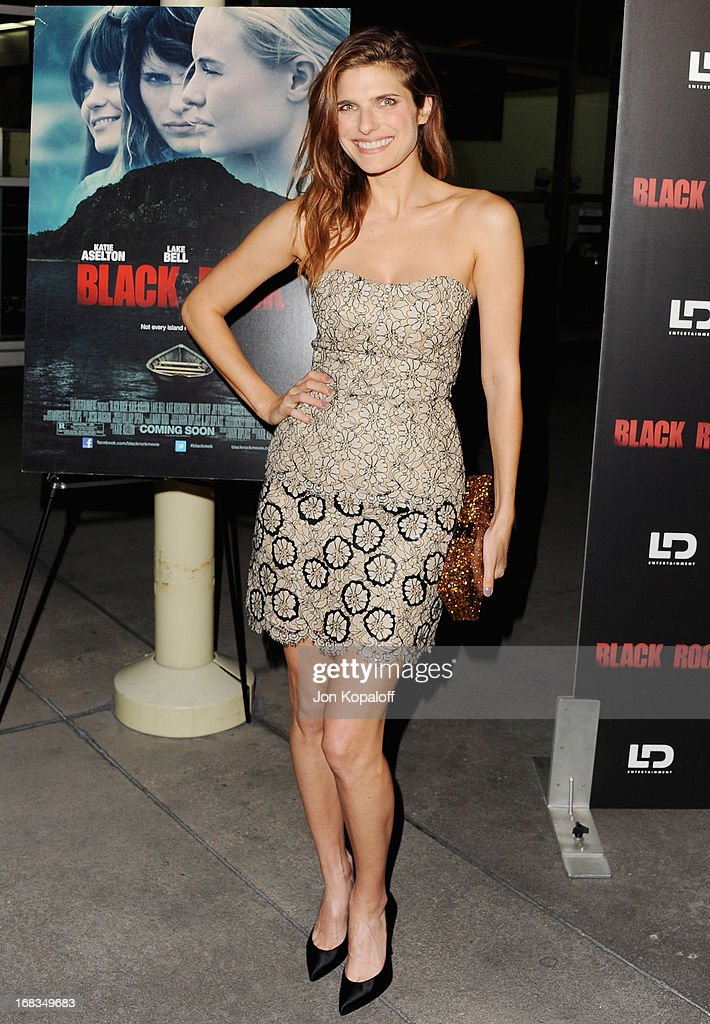 Actress Lake Bell arrives at the Los Angeles Premiere 'Black Rock' at ArcLight Hollywood on May 8, 2013 in Hollywood, California.
