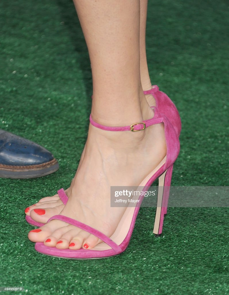 Actress <a gi-track='captionPersonalityLinkClicked' href=/galleries/search?phrase=Lake+Bell&family=editorial&specificpeople=209336 ng-click='$event.stopPropagation()'>Lake Bell</a> (shoe detail) at the Los Angeles premiere of 'Million Dollar Arm' at the El Capitan Theatre on May 6, 2014 in Hollywood, California.