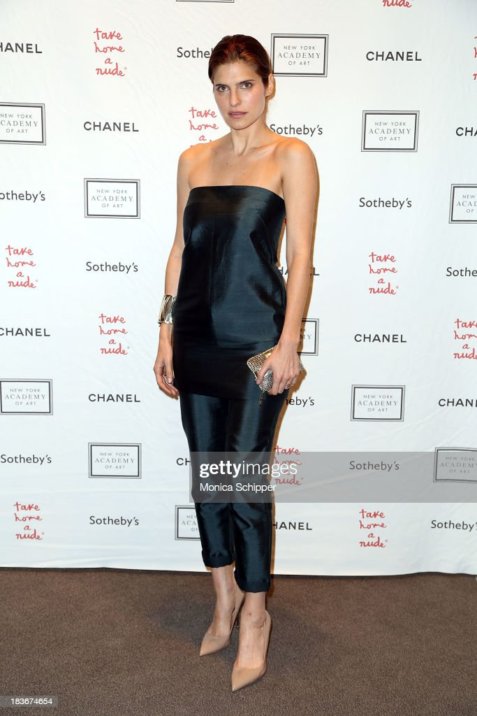 Actress <a gi-track='captionPersonalityLinkClicked' href=/galleries/search?phrase=Lake+Bell&family=editorial&specificpeople=209336 ng-click='$event.stopPropagation()'>Lake Bell</a> attends 2013 'Take Home A Nude' Benefit Art Auction And Party at Sotheby's on October 8, 2013 in New York City.