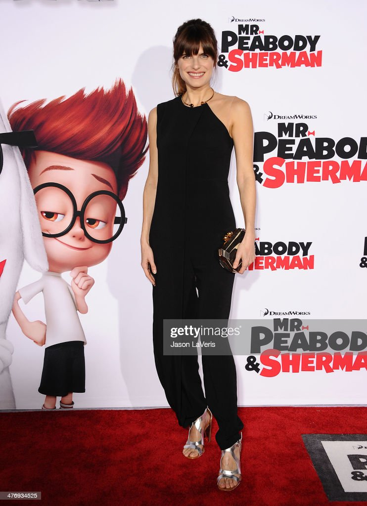 Actress Lake Bell attends the premiere of 'Mr Peabody Sherman' at Regency Village Theatre on March 5 2014 in Westwood California