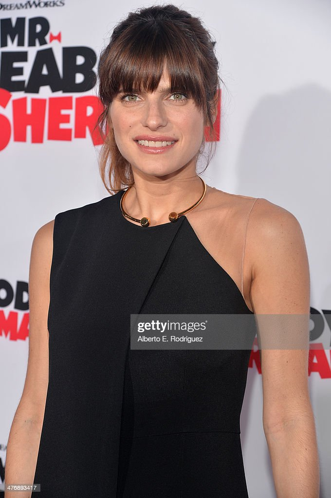 Actress <a gi-track='captionPersonalityLinkClicked' href=/galleries/search?phrase=Lake+Bell&family=editorial&specificpeople=209336 ng-click='$event.stopPropagation()'>Lake Bell</a> attends the premiere of Twentieth Century Fox and DreamWorks Animation's 'Mr. Peabody & Sherman' at Regency Village Theatre on March 5, 2014 in Westwood, California.