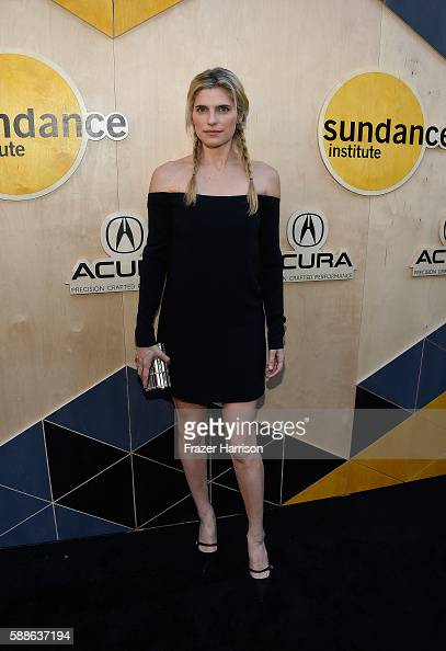 Actress Lake Bell attends the Sundance Institute NIGHT BEFORE NEXT Benefit at The Theatre at The Ace Hotel on August 11 2016 in Los Angeles California